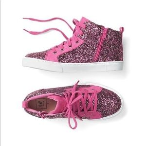 Gap Glitter high top sneakers NWT size 4